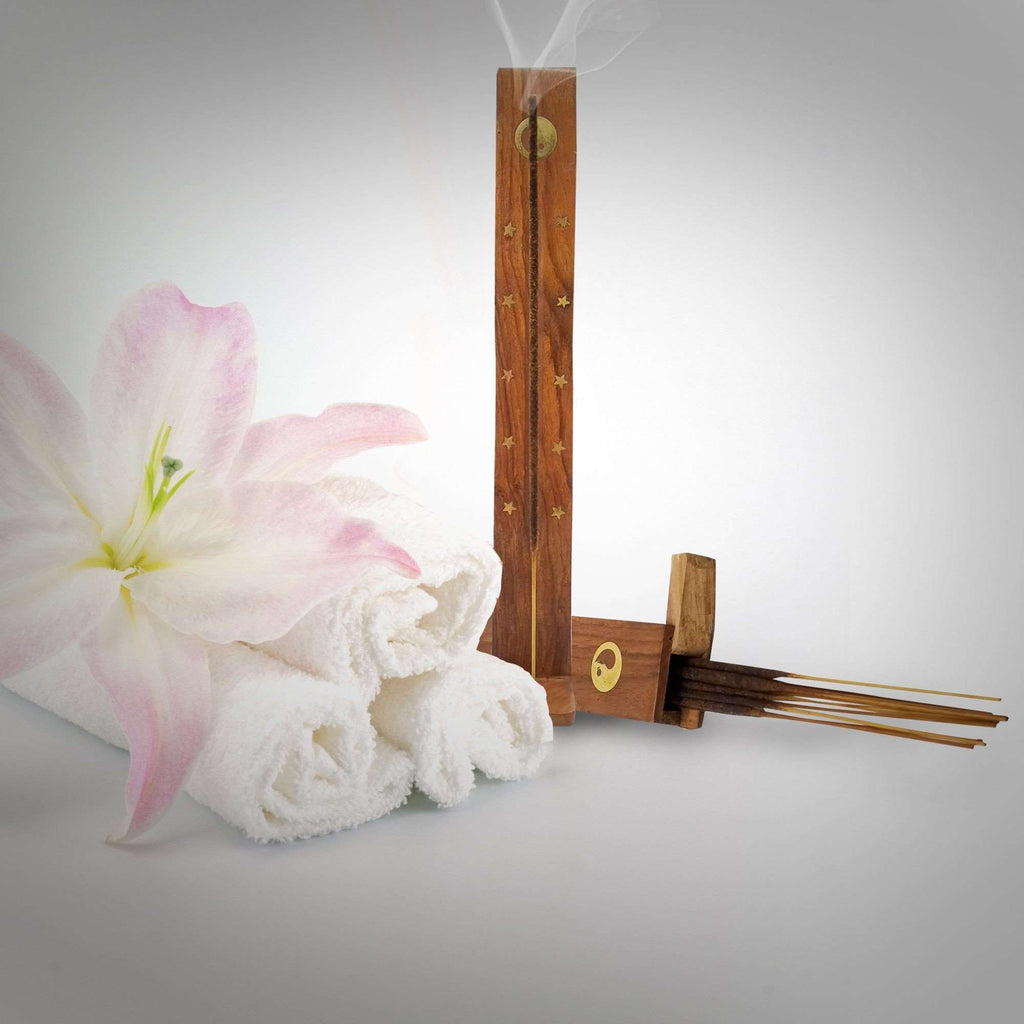 Incense Stick Holder. Adorable Way To Hold Your Incense And Brighten Your Life. With Storage Compartment (H-117) Incense Holder BargzOils