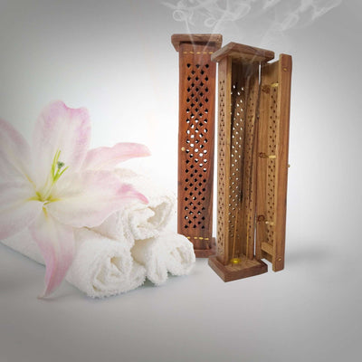 Incense Stick Holder. Adorable Way To Hold Your Incense And Brighten Your Life. With Storage Compartment (H-131) Incense Holder BargzOils