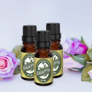 Eucalyptus Essential Oil, Glass Amber Bottle, Powerful Medicinal Oils & Fresh Fragrance