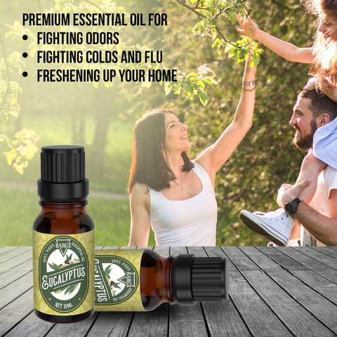 Image of Eucalyptus Essential Oil, Glass Amber Bottle, Powerful Medicinal Oils & Fresh Fragrance