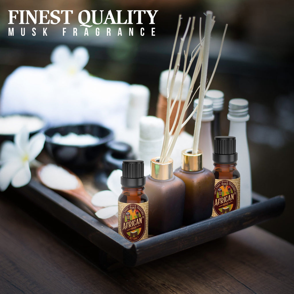 African Musk Essential Oil, Glass Amber Bottle With Dropper Bottle