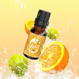 Orange Essential Oil - 100% Natural Flavor Nourishes Dry, Irritated Acne-Prone Skin