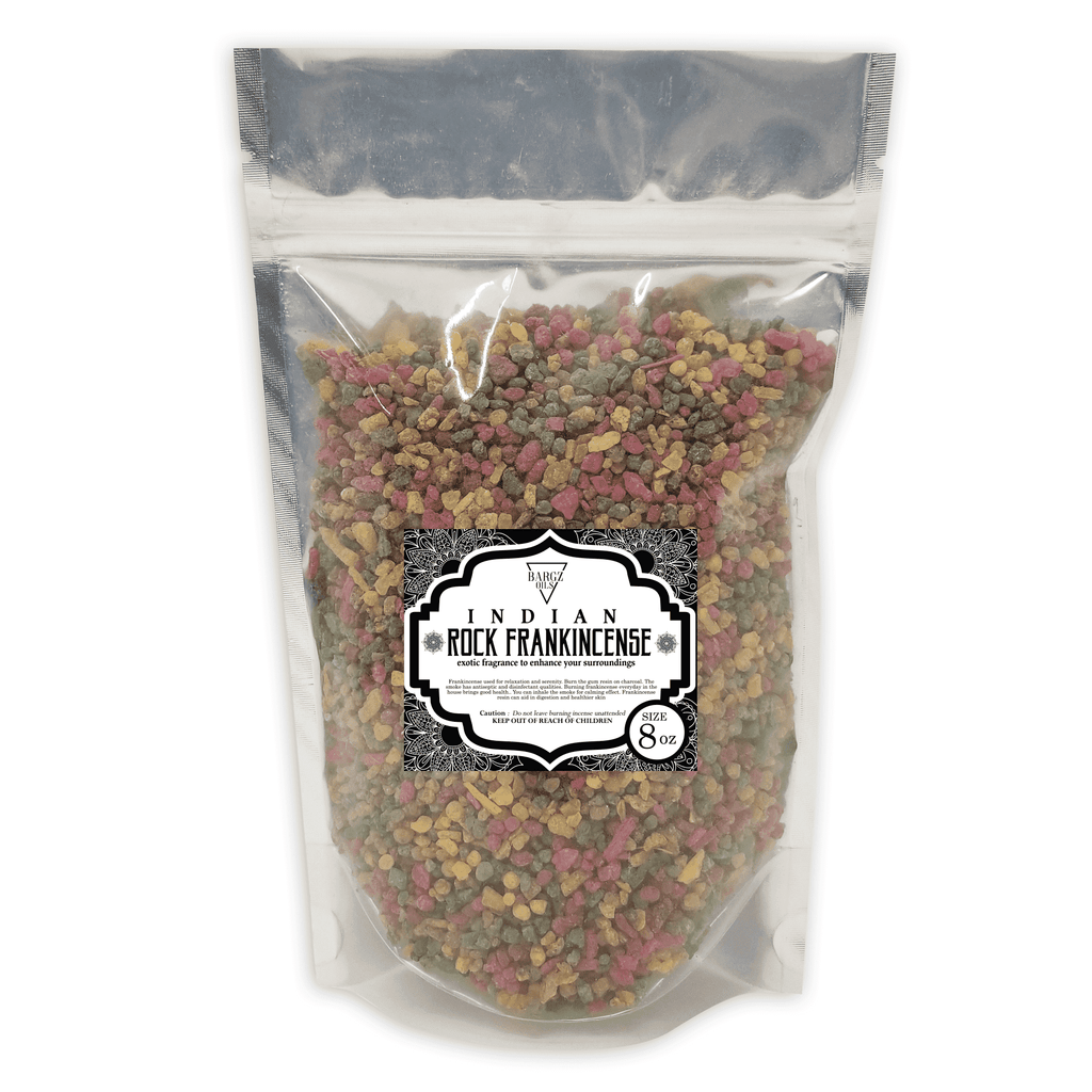 Indian Frankincense Resin High Quality Organic Aromatic Resin Tears Rock Incense BargzOils 8 OZ