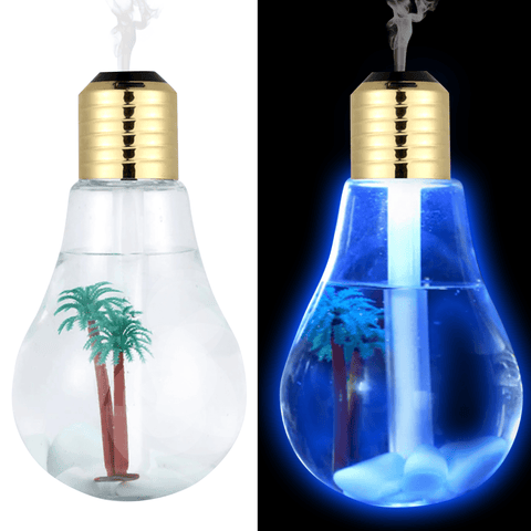 Image of 400ml LED Lamp Air Ultrasonic Humidifier for Home Essential Oil Diffuser Atomizer Air Freshener Mist Maker with LED Night Light Oil Diffuser BargzOils