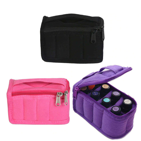 Image of Portable 8 Bottle 5ml 10ml Essential Oil Storage Bag Cotton Carrying Holder Case Travel Nail Polish Organizer Storage Box Bags