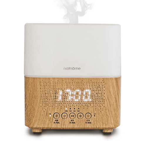 Image of 300ml Ultrasonic Aroma Diffusers Air Humidifiers Time Display,Bluetooth Speaker,LED Night light,Alarm Clock for Home Office BargzOils