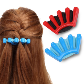 1PC Fashion DIY Women Wonder Sponge Hair Braider Twist Styling Braid Tool Holder Hair Clip Styling Tools hair accessories