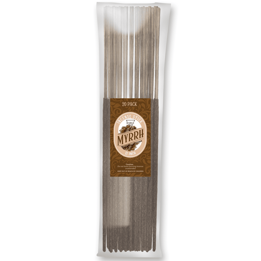 Myrrh Natural Incense Stick [11 in] Lasting Relaxing Fragrance - 20 Pack