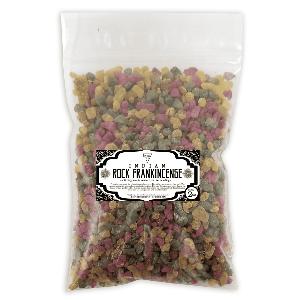 Indian Frankincense Resin High Quality Organic Aromatic Resin Tears Rock Incense BargzOils 2 OZ