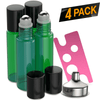 Essential Oil Roller Bottles [Green Bottle] Oil BargzOils 4 -Pack