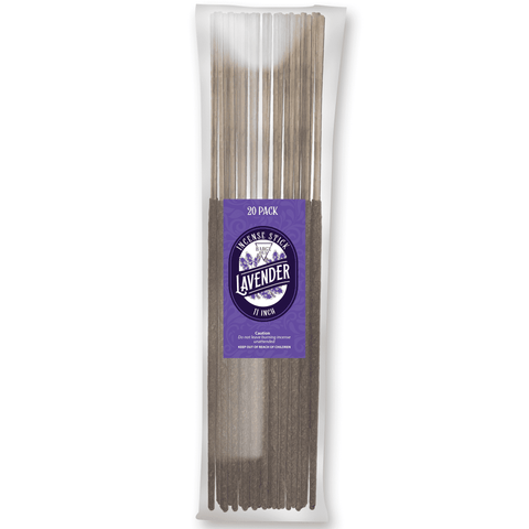 Image of Lavender Natural Incense Stick [11 in] Lasting Relaxing Fragrance - 20 Pack Incense BargzOils