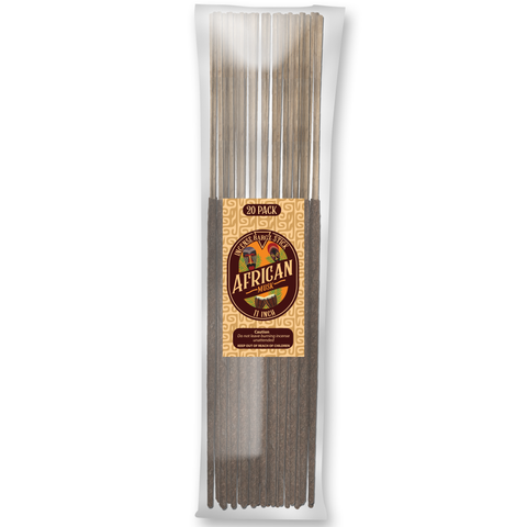 Image of African Musk Natural Incense Stick [11 in] Lasting Relaxing Fragrance - 20 Pack