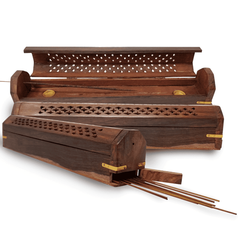 Image of Incense Stick Holder. Adorable Way To Hold Your Incense And Brighten Your Life. With Storage Compartment (H-47) Incense Holder BargzOils