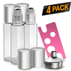 Essential Oil Roller Bottles [Silver Bottle] Oil BargzOils 4 -Pack