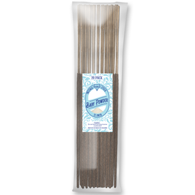 Baby Powder Natural Incense Stick [11 in] Lasting Relaxing Fragrance - 20 Pack