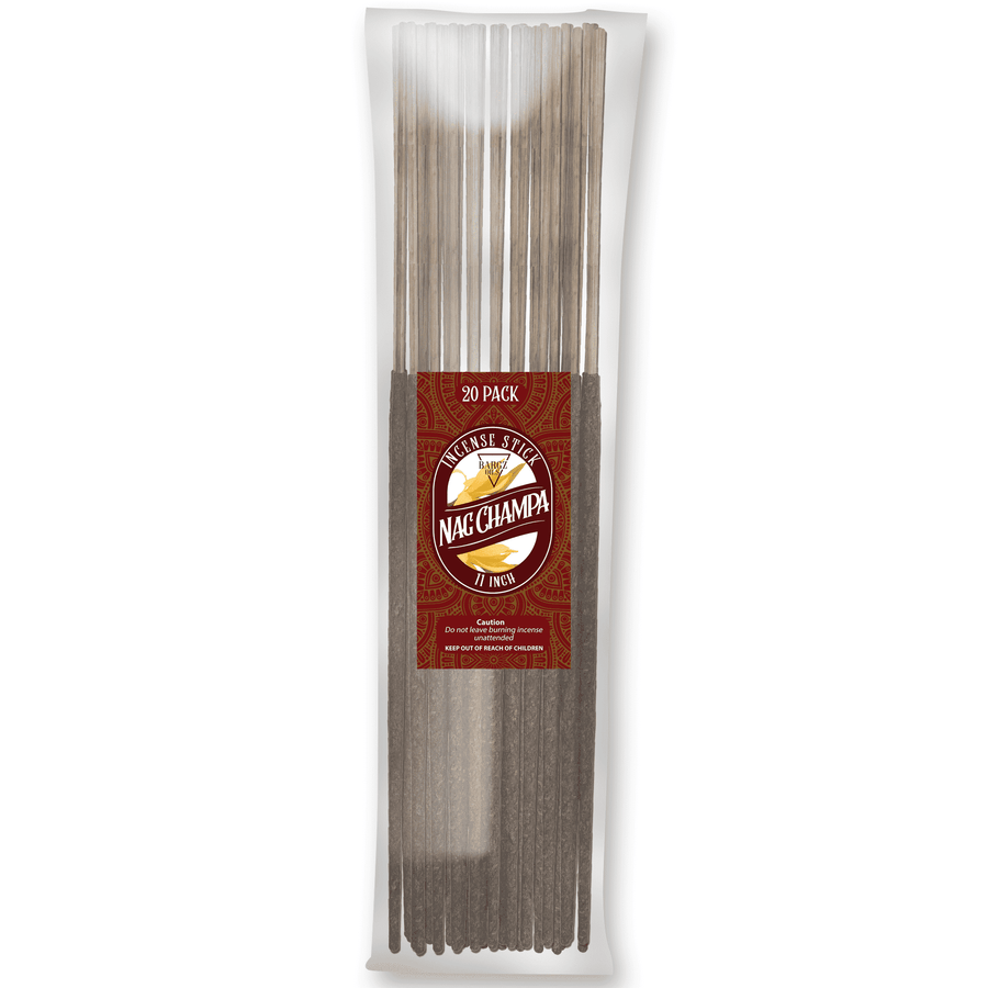 Nag Champa Natural Incense Stick [11 in] Lasting Relaxing Fragrance - 20 Pack