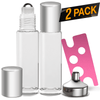 Essential Oil Roller Bottles [Silver Bottle] Oil BargzOils 2-Pack