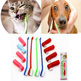 1Set Pet Cat Dog Tooth Finger Brush Dental Care For Pet Toothbrush Toothbrushes BargzOils