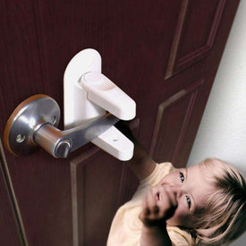 1PCS Baby Safety Lock Door Lever Lock Safety Child Proof Doors 3M Adhesive Lever Handle Compatible with Standard
