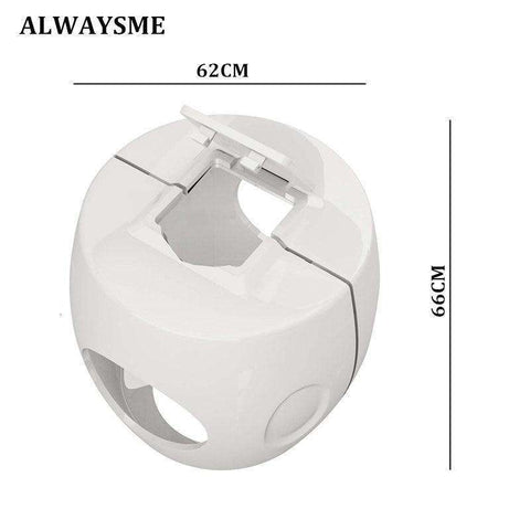 Image of ALWAYSME For Baby Kids Door Knob Safety Cover Door Knob Proof Covers Safety Door Handle Cover Lockable Design Soft PP Material BargzOils