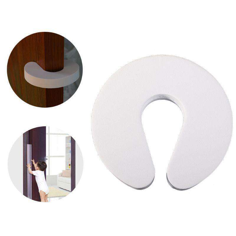 Foam Door Stopper EVA C Shaped Jammer Kids Finger Safety Guard Anti Slamming Doors Baby Hands Protector BargzOils