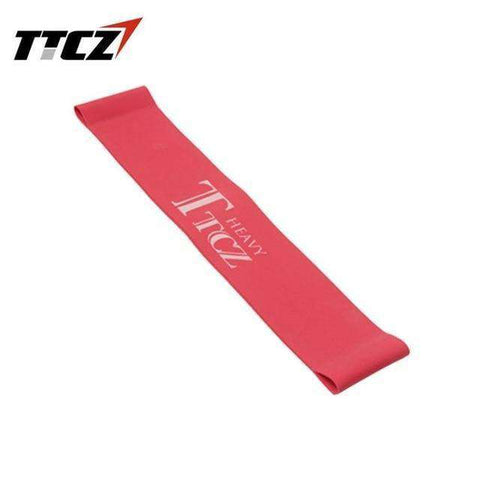 Image of Unisex Elastic Tension Yoga Resistance Band Exercise Workout Rubber Loop Band Muscle Fitness Training Expander Slimming tool BargzOils Red