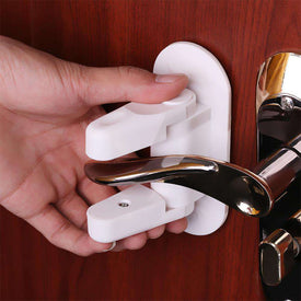 Door Lever Lock Safety Child Proof Doors Adhesive Lever Handle Baby Safety Lock Compatible with Standard Door Lever Handles BargzOils