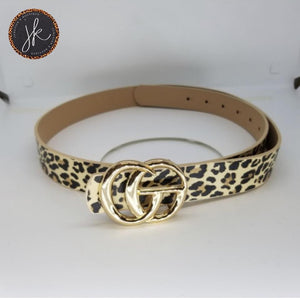 Designer Look Belt Leopard