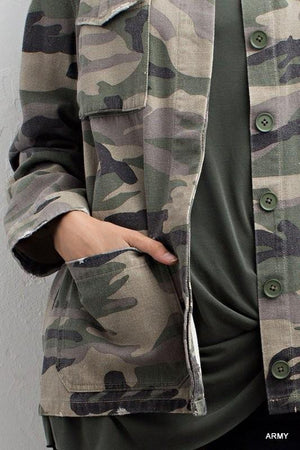 Broken In Camo Cargo Jacket - Junction K Boutique