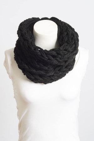 Braided Cowl Neck Infinity Scarf
