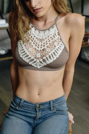 Crochet Lace Neck Bralette - Junction K Boutique