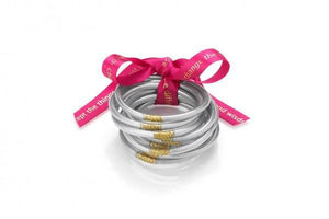BUDHAGIRL All Weather Silver Bangles