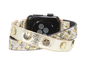 Criss Cross Leather Erimish Apple Watch Band