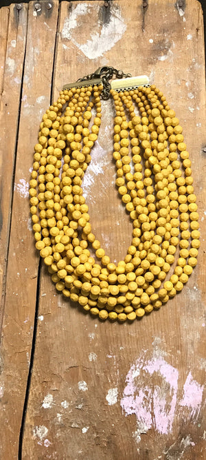 Beaded Bib Necklace - Junction K Boutique