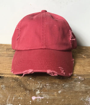 Favorite Distressed Ball Cap - Junction K Boutique