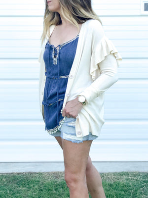 Boardwalk Ruffled Cardigan