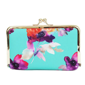 Teal Floral Pill Case