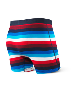 SAXX Ultra Boxer - Navy Red Cabana Stripe