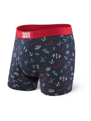 SAXX Vibe Boxer Brief - Navy Stache