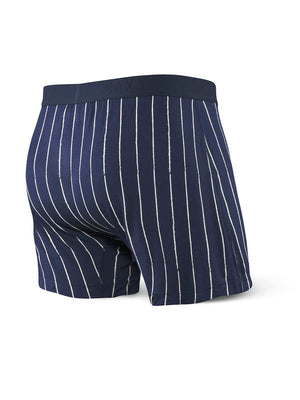 SAXX Ultra Free Agent Loose Fit Boxer - Navy Baseball Stripe