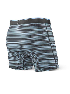 SAXX Quest Loose Cannon Loose Fit Boxer - Black Daybreak Stripe