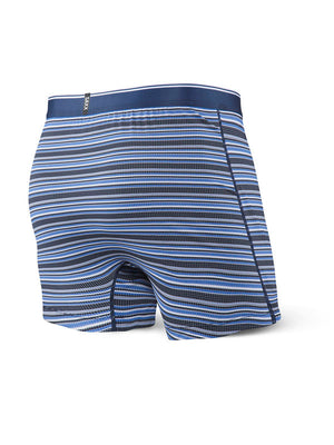 SAXX Quest Loose Cannon Loose Fit Boxer - Blue Daybreak Stripe