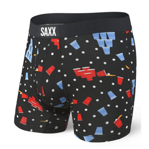 SAXX Vibe Boxer Brief - Black Solo Cup Champs