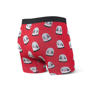 SAXX Vibe Boxer Brief - Red Snow Globes