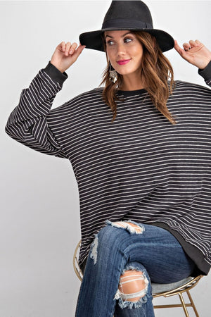 Oh So Comfy Striped Pullover