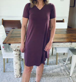 Vneck Tshirt Dress