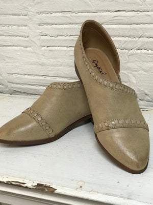 Tan Slip On Flats