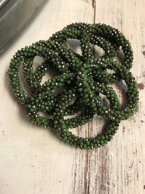 The Marilyn Bracelet - Greens