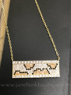 Leopard Bar Necklace
