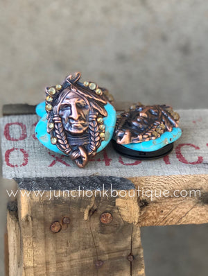 Turquoise Chief Phone Slab